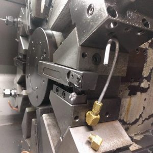 Crashed Mazak Slant Bed Lathe Turret